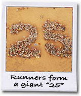 runners form a 25